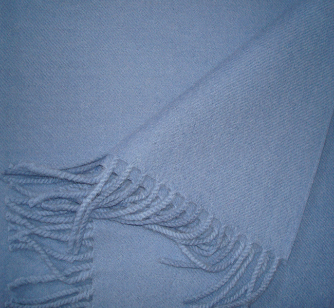 PFL scarf woven in 100% Baby Alpaca, light blue