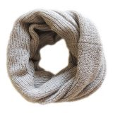 001-11-1005-04 compact circle scarf beige 100% Baby Alpaca
