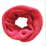 001-11-1005-05 compact circle scarf Red 100% Baby Alpaca