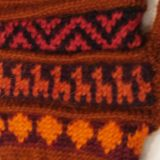 001-21-1002-04 001-21-1002-04 Knitted Alpaca wool gloves brown-red multicolor