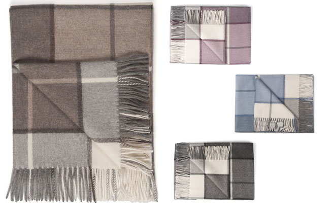 Luxury throws in 100% Baby Alpaca Arequipa collection