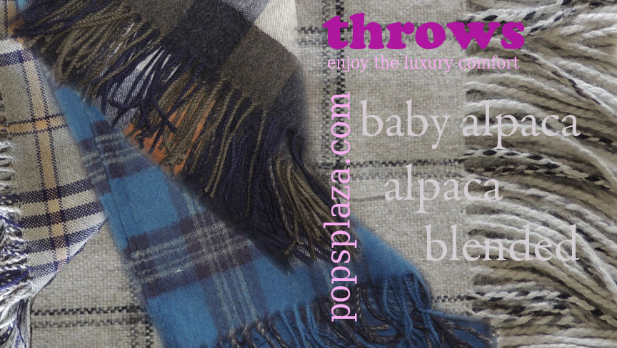 Enjoy the luxury comfort and feel of Alpaca throws