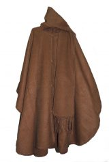 Classic poncho elegant and chic with scarf in 100% alpaca