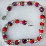 "Jewellery "" Collar en Manta"" necklace made of colorful colorful Peruvian fabrics."