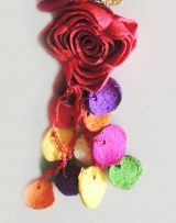"""Jewellery """"Rosas de colores"""" set necklace and earrings"""