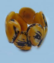 "Jewellery ""Tagua Amarillo fuerte"" bracelet made of natural Vegetable ivory (taqua)."