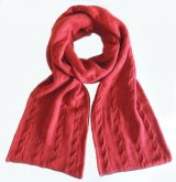 Womenswear, double knitted, reversible long scarve in Alpaca blend