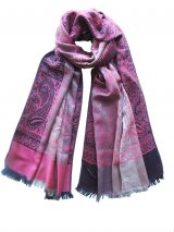 PFL scarf in a blend of alpaca and silk, 192 cm / 75,59 inches x 69 cm / 27,17 inches.