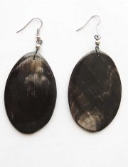 PFL handmade bull horn earrings leaf
