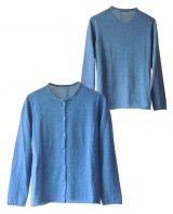 Women's Fashion, Classic cardigan with button closure, round neckline and subtle embroidered dots