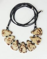 "Jewelry ""white tagua"" necklace made of natural Tagua, Vegetable ivory ."