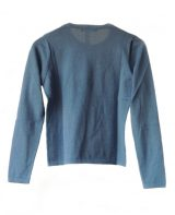 Classic sweaters in solid blue, conducted in luxury super soft baby alpaca, with round neck.