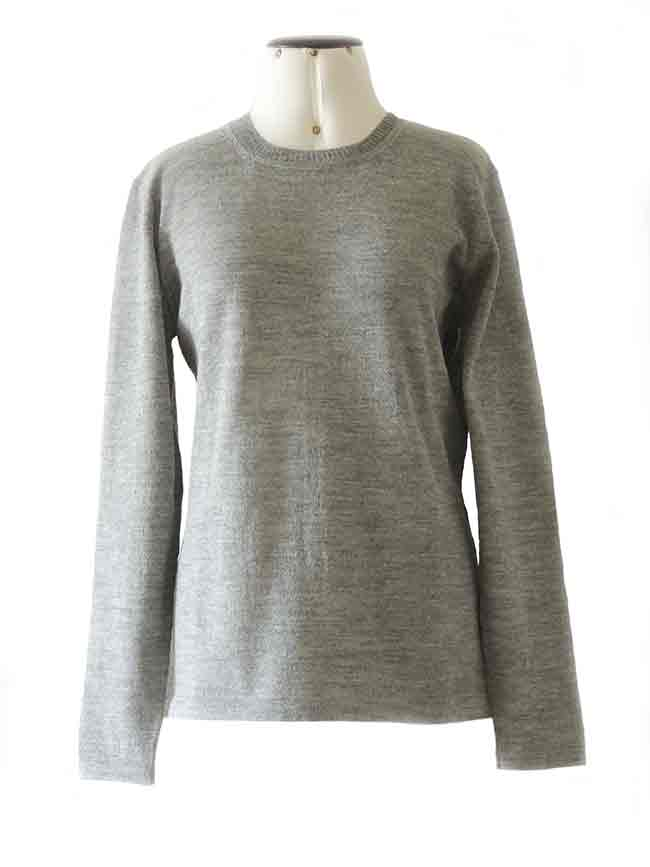 Classic sweaters in solid blue, conducted in luxury super soft baby alpaca, with crewneck.