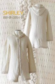 Cardigan Shirley with hood in luxury suri alpaca