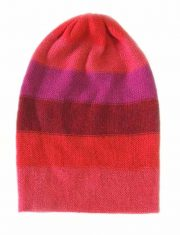 PFL premium, lightweight, basic beanie red-puple in 100% baby alpaca, unisex.