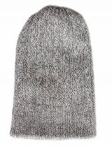 Double knitted, reversible hat in Alpaca blend in shades dark grey-grey.