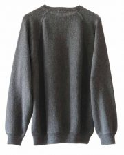 Men's fashion, fine knitted sweater with round neck in soft baby alpaca.