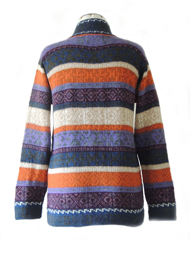 PFL knits, vest MURU P17 striped multicolor purple-orange