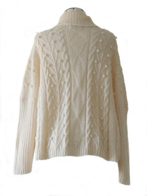 PFL knits sweater ANGEL with turtleneck.