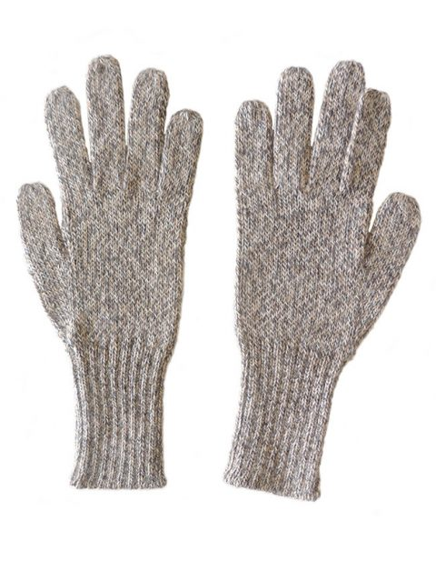 PFL knits, soft knitted gloves in alpaca wool blend, grey marble.