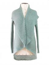 PFL knitwear Cardigan Keyla sea green-gray