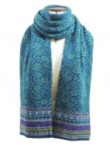 PFL knitwear Scarf Susan turquoise blue