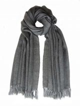 PFL Knitwear PFL Shawl, baby alpaca solid color black