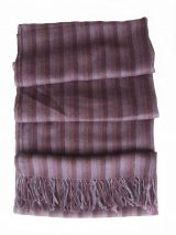 PFL Shawl / Stole, super soft and lightweight 80% baby alpaca, 20% silk with fringes.