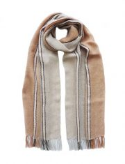 PFL knitwear Scarf, baby alpaca stripes with fringes. unisex
