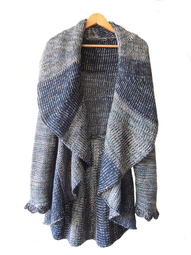 Long cardigan, blue multi