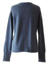 PFL knitwear, sweater Angee, with cable pattern and round neck, 100% baby alpaca.