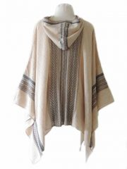 Hooded knitted cape /cloak in luxurious super soft and silky baby alpaca wool.