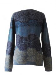 PFL Knitwear Sweater Georgina with flower pattern 001-01-2124-06
