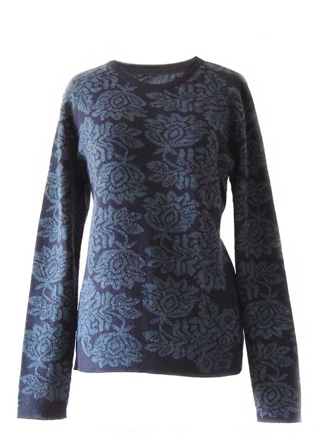 PFL Knitwear Sweater Georgina with flower pattern 001-01-2124-07