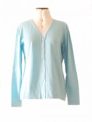 Cardigan Luana baby alpaca - tanguis cotton light blue.