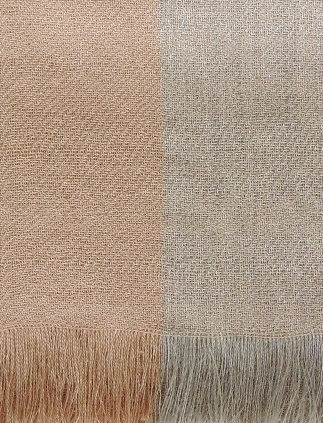 PFL scarf, soft two colors baby alpaca camel- sand.
