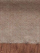 PFL Hand woven scarf camel with herringbone pattern, baby alpaca.