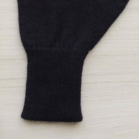 Winter gloves, baby alpaca reversible double knitted extra winter warm women's gloves, men's gloves blue - creme