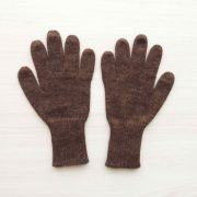 Winter gloves, baby alpaca reversible double knitted extra winter warm women's gloves, men's gloves brown - beige