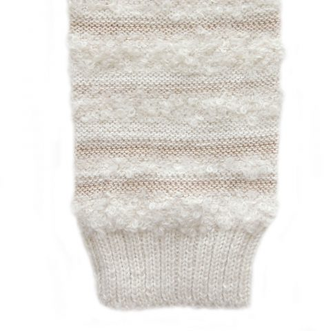 Wirst warmers fine knitted, fingerless gloves with boucle details,alpaca blend