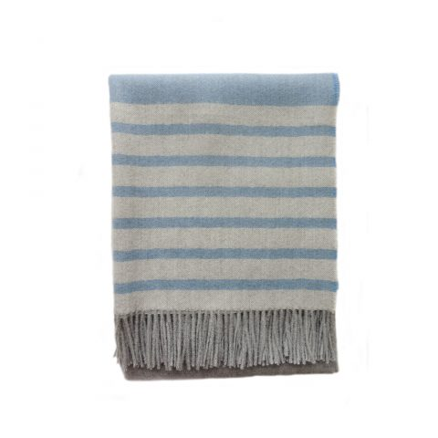 Throw blanket 100% baby alpaca with striped pattern, all season throw blanket.
