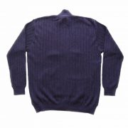 Men's cardigan / sweater with full zip long sleeves and side pockets. in a purple mixture. alpaca
