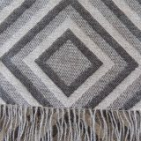 PFL knitwear Scarf with graphic pattern and fringes made in 100% baby alpaca, unisex