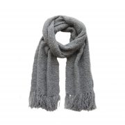 PFL knitwear Women's scarf made of very soft and warm alpaca boucle with fringes