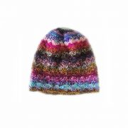 PFL knitwear Women,s sheeps woolen winter hat in the colors of the Andes