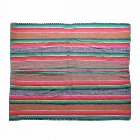PopsPlaza Handwoven wool Peruvian blanket - rug, frazadas in beautiful colors each blanket is unique and a little different as the other in natural colors