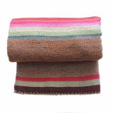 PopsPlaza.com handwoven wool Peruvian blanket - rug, frazadas in beautiful colors each blanket is unique and a little different as the other in natural colors