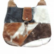 Handmade cowhide handbag / schoulderbag with beautiful unique pattern.