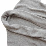 PopsPlaza knitwear Women's Cardigan, oversized with shawl collar in capote coat style without hood, open sweater coat alpaca blend, gray
