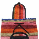 Peruvian backpack handmade of sheeps wool dyed with natural dyes